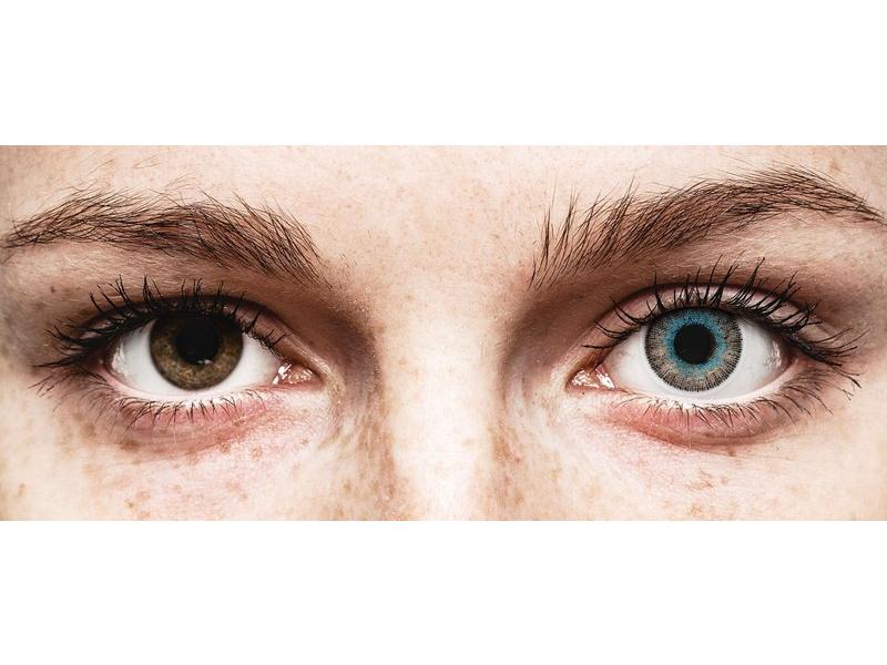Blue Grey Fusion contact lenses - power - ColourVue (2 coloured lenses)