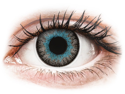Blue Grey Fusion contact lenses - ColourVue (2 coloured lenses)