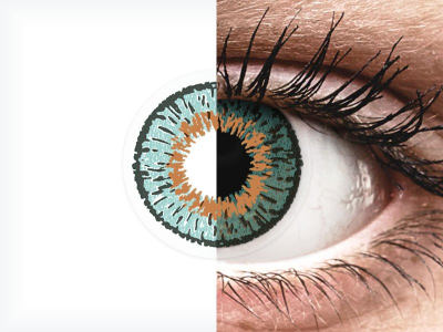 Blue Aqua contact lenses - Expressions Colors (1 monthly coloured lens)