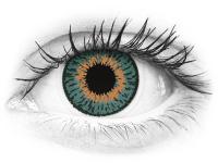 Blue Aqua contact lenses - Expressions Colors (1 monthly coloured lens)