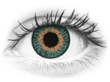 Blue Aqua contact lenses - Expressions Colors - Power (1 monthly coloured lens)