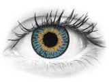 Blue contact lenses - Expressions Colors - Power (1 monthly coloured lens)