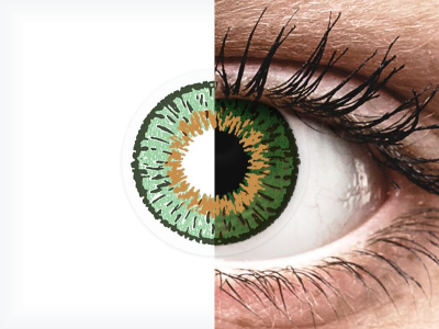 Green contact lenses - Expressions Colors (1 monthly coloured lens)
