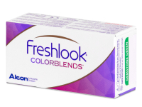 Blue contact lenses - FreshLook ColorBlends - Power (2 monthly coloured lenses)