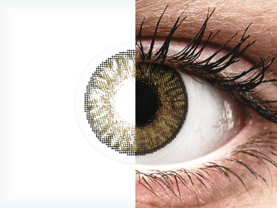 Pure Hazel contact lenses - FreshLook ColorBlends (2 monthly coloured lenses)