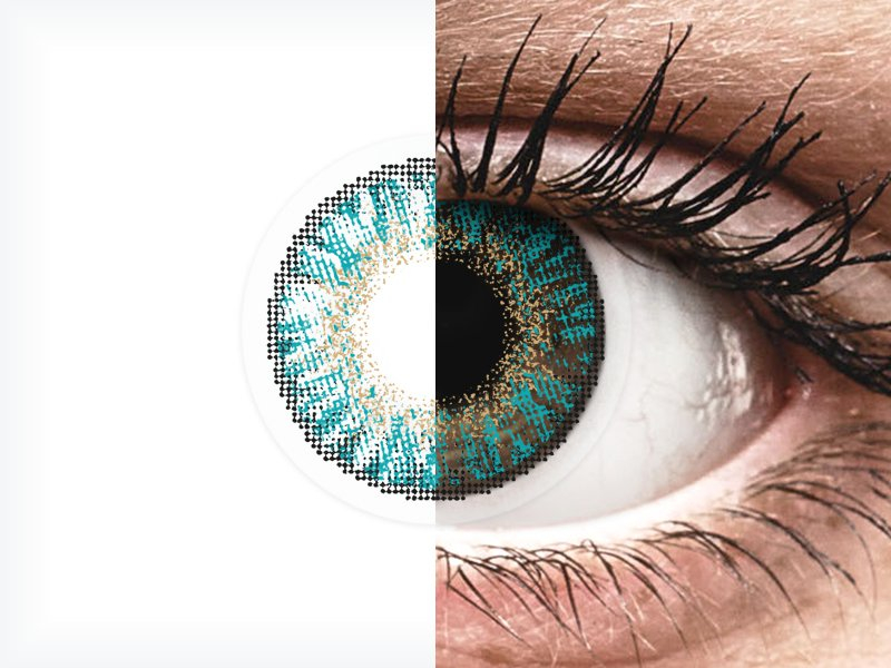 Turquoise Freshlook Colorblends Lenses 2 Power Alensa Uk