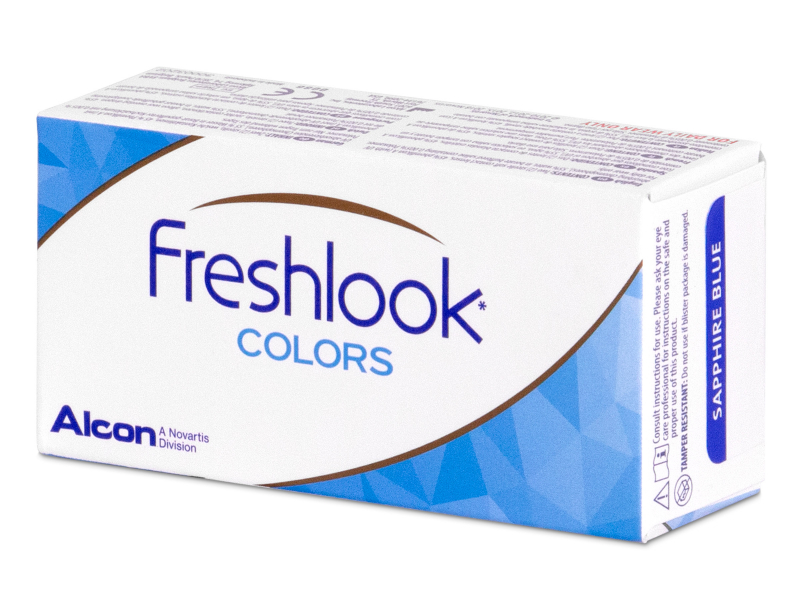 Blue contact lenses - FreshLook Colors - Power (2 monthly coloured lenses)
