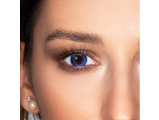 Sapphire Blue contact lenses - FreshLook Colors - Power (2 monthly coloured lenses)