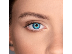 Brilliant Blue contact lenses - natural effect - power - Air Optix (2 monthly coloured lenses)