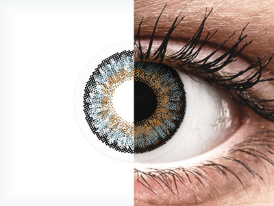 Blue contact lenses - FreshLook One Day Color - Power (10 daily coloured lenses)