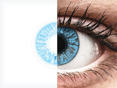 Sapphire Blue contact lenses - FreshLook Colors (2 monthly coloured lenses)