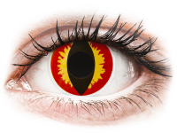 Alensa.co.uk - Contact lenses - Red and Yellow Dragon Eyes contact lenses - ColourVue Crazy