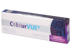 Hazel One Day TruBlends contact lenses - ColourVue - Power (10 coloured lenses)
