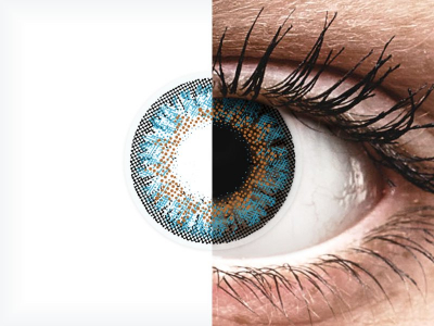 Blue One Day TruBlends contact lenses - ColourVue - Power (10 coloured lenses)
