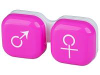 Alensa.co.uk - Contact lenses - Lens Case man & woman - pink