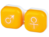Alensa.co.uk - Contact lenses - Lens Case man & woman - yellow