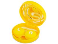 Alensa.co.uk - Contact lenses - Lens Case with mirror - yellow ornament