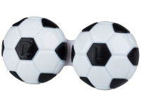 Alensa.co.uk - Contact lenses - Lens Case Football - black
