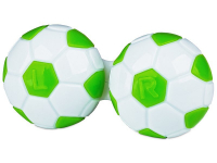 Alensa.co.uk - Contact lenses - Lens Case Football - green