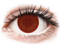 Alensa.co.uk - Contact lenses - ColourVUE Crazy Lens - Red Screen - plano