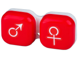 Alensa.co.uk - Contact lenses - Lens Case man & woman - red
