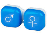 Alensa.co.uk - Contact lenses - Lens Case man & woman - blue