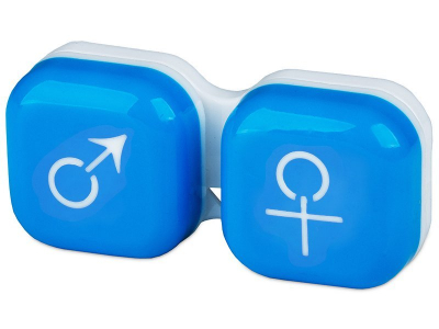 Lens Case man & woman - blue
