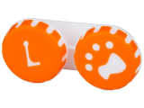 Alensa.co.uk - Contact lenses - Lens Case Paw orange