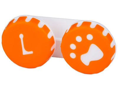 Lens Case Paw orange