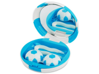 Alensa.co.uk - Contact lenses - Lens Case with mirror Football - blue