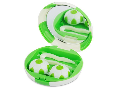Lens Case with mirror Football - green