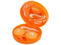 Alensa.co.uk - Contact lenses - Lens Case with mirror- orange ornament