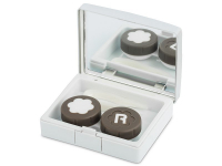 Alensa.co.uk - Contact lenses - Lens Case with mirror Elegant  - silver