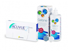 Acuvue 2 (6 lenses) + Gelone Solution 360 ml