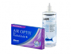 Air Optix plus HydraGlyde Multifocal (6 lenses) + Laim-Care Solution 400 ml