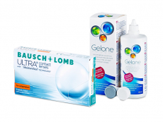 Bausch + Lomb ULTRA for Astigmatism (6 lenses) + Gelone Solution 360 ml