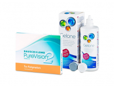 PureVision 2 for Astigmatism (3 lenses) + Gelone Solution 360 ml