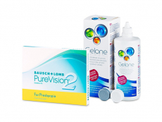 PureVision 2 for Presbyopia (3 lenses) + Gelone Solution 360 ml