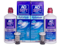 Alensa.co.uk - Contact lenses - AO SEPT PLUS HydraGlyde Solution 2 x 360 ml