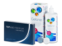 TopVue Premium (6 lenses) + Gelone Solution 360 ml
