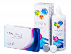 TopVue Air Multifocal (3 lenses) + Gelone Solution 360 ml
