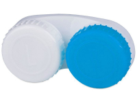 Alensa.co.uk - Contact lenses - Lens Case blue & white L+R