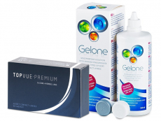 TopVue Premium (12 lenses) + Gelone Solution 360 ml