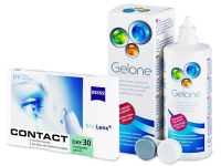 Carl Zeiss Contact Day 30 Compatic (6 lenses) + Gelone Solution 360 ml