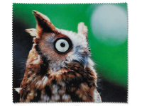 Alensa.co.uk - Contact lenses - Glasses cleaning cloth - Owl