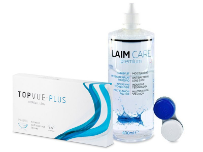TopVue Monthly Plus (6 lenses) + LAIM-CARE Solution 400 ml