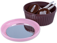 Lens Case with mirror Muffin - pink