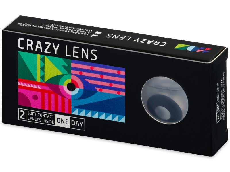 CRAZY LENS - Black Out - power (2 daily coloured lenses)