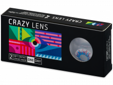 CRAZY LENS - Harlequin - power (2 daily coloured lenses)