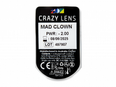CRAZY LENS - Mad Clown - power (2 daily coloured lenses)